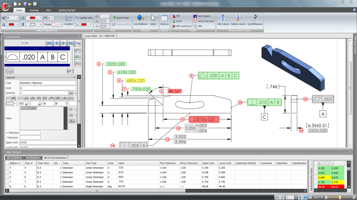 SOLIDWORKS 2015 Manager Showcase: What's New in Inspection