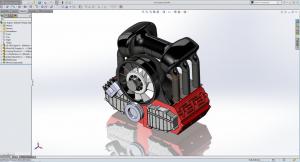 SOLIDWORKS Porsche Engine
