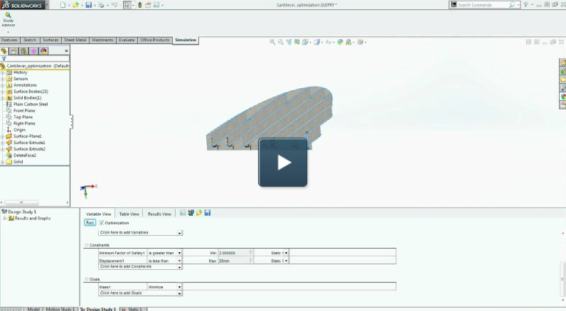 Demo: Optimizing Your Designs in SOLIDWORKS Simulation