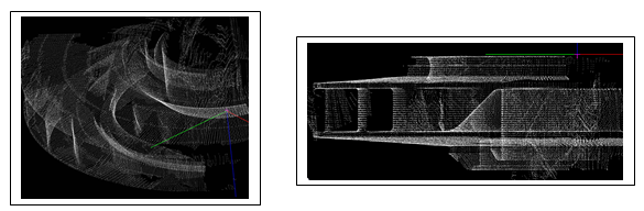 Two views of your scanned data prior to reading it into your native CAD design software for analysis or remanufacturing.