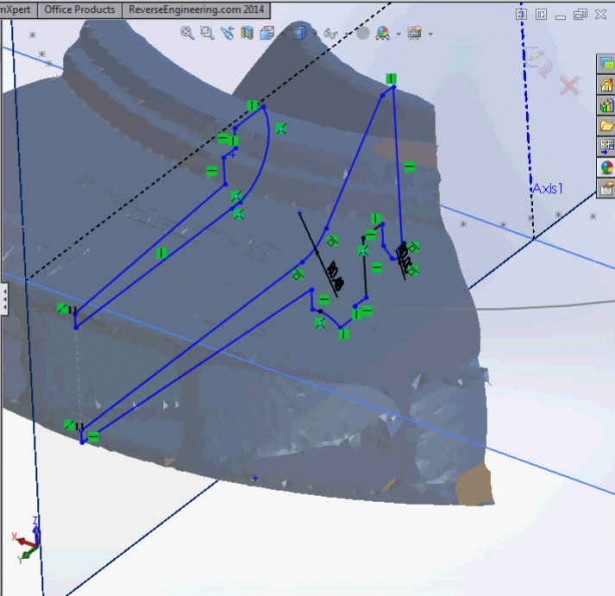 The file is now manageable in your SOLIDWORKS environment and the rest of the tasks rely on the traditional mechanical engineering tools available to you within your design software.