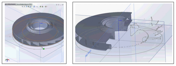 The final part directly inside of SOLIDWORKS is now ready for downstream applications.