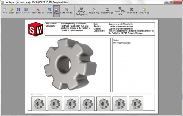Figure 4: 3D PDF Template Editor