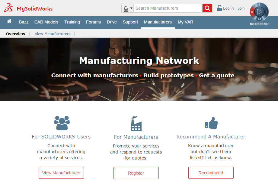 MySolidWorks Manufacturing Network – Connect with Reliable Manufacturers