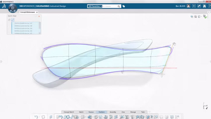 Freeform and parametric design tools: a match made in CAD