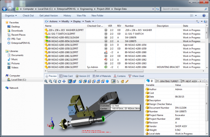 Powerful Data Management Capabilities with SOLIDWORKS PDM Standard