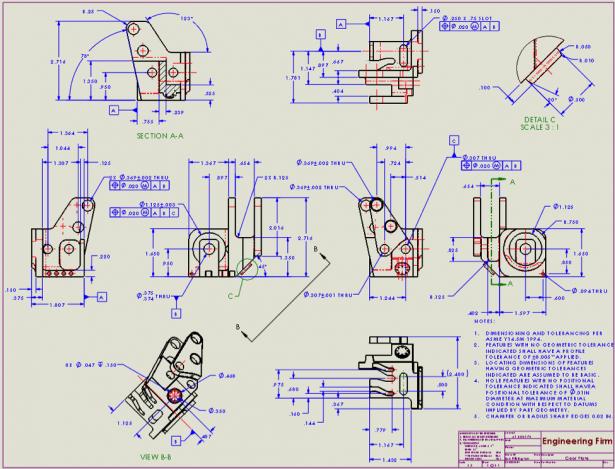 Figure 2: 2D Engineering drawing