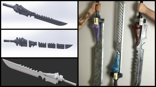 Swords Process Collage