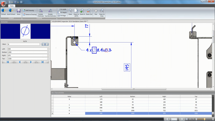 SOLIDWORKS Inspection 2016 – OCR Editor