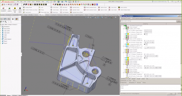 Automatic CMM programming accordingly SOLIDWORKS MBD model and PMI