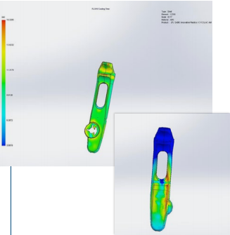 SOLIDWORKS Plastics mold-filling simulation software was used to accelerate product development of the ABBI device.