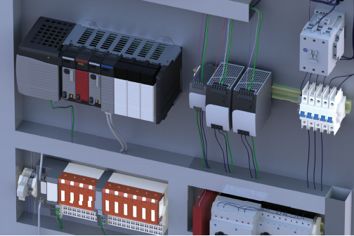 SOLIDWORKS Electrical enables designers to easily integrate electrical schematic design with 3D models of wiring in machines or control panels.