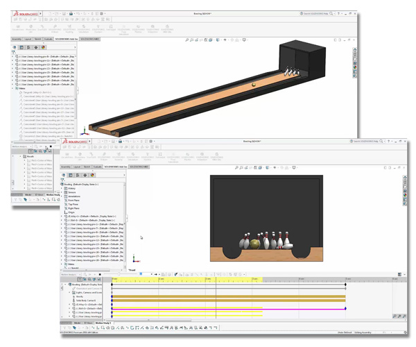 Bowling: Converting a 7-10 split Using SOLIDWORKS Simulation