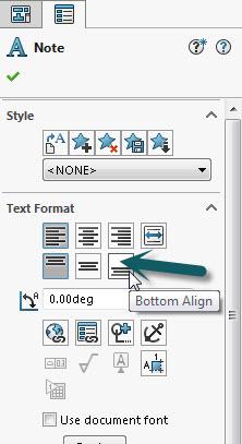 Align Bottom setting