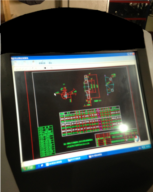 Figure 2: 2D drawing on a digital terminal on a shop floor