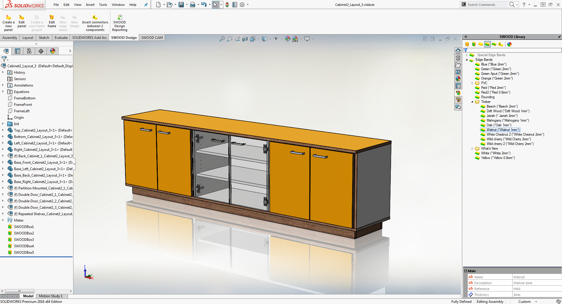 Swood woodworking and solidworks for Design table not working solidworks