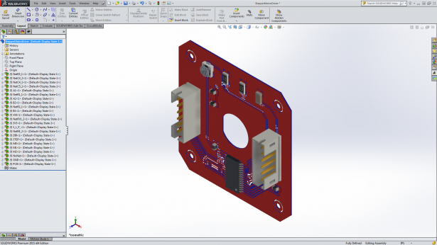 Included copper geometries for PCBs in SOLIDWORKS