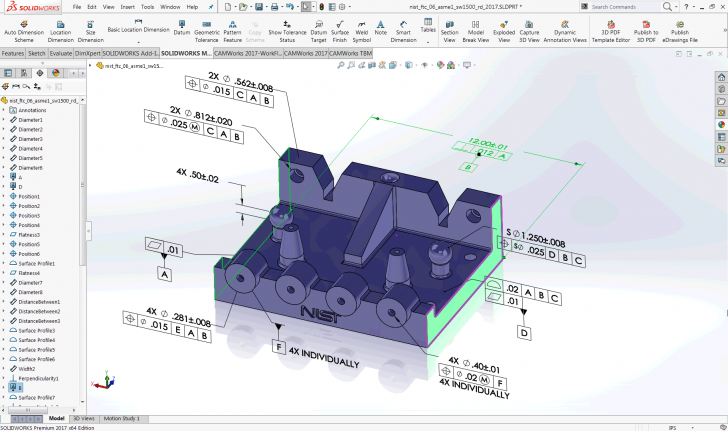 Place Datum Feature Symbols to Your Preference Using SOLIDWORKS MBD