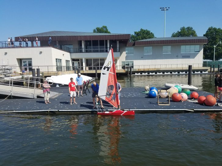 Robot + Sailboat = SailBOT:  WPI Students Build Award-winning Autonomous Sailboat