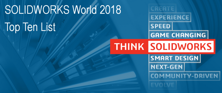 SOLIDWORKS World 2018 Top Ten List Now Open for Submissions