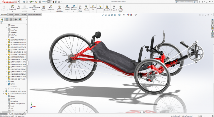 SOLIDWORKS Custom Catrike: Building a Bike for a Cause