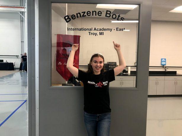 Danielle at the Benzene Bots workshop