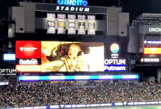Jonah on Gillette Stadium's Jumbo Tron