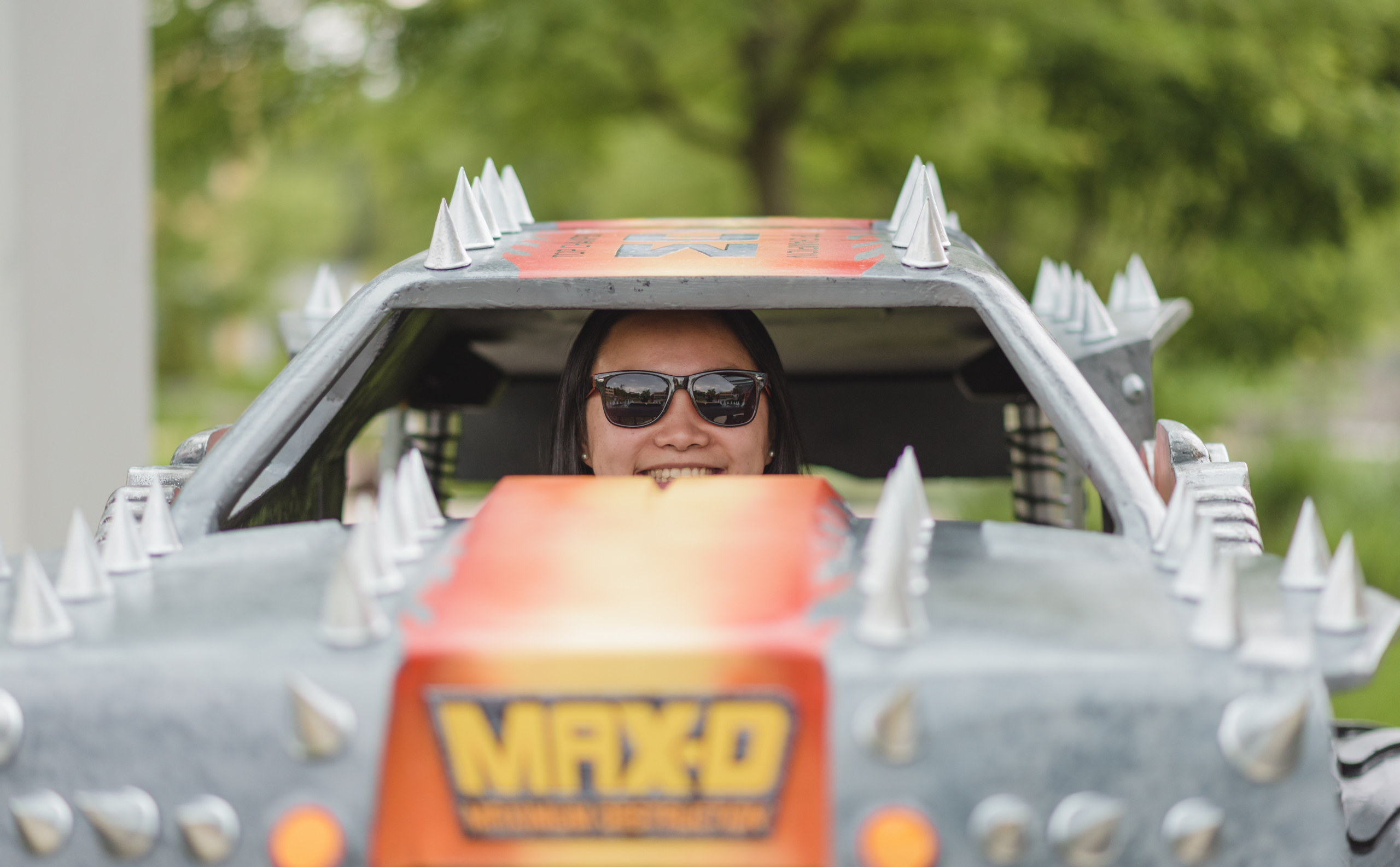 Team leader Chinloo cruising in the mini-Max-D