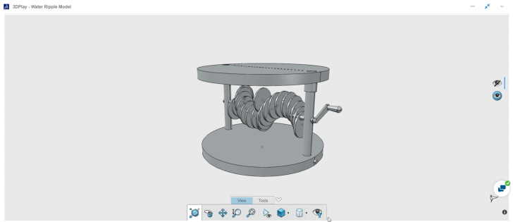 Creating a Model for Water Ripple Effect with SOLIDWORKS xDesign