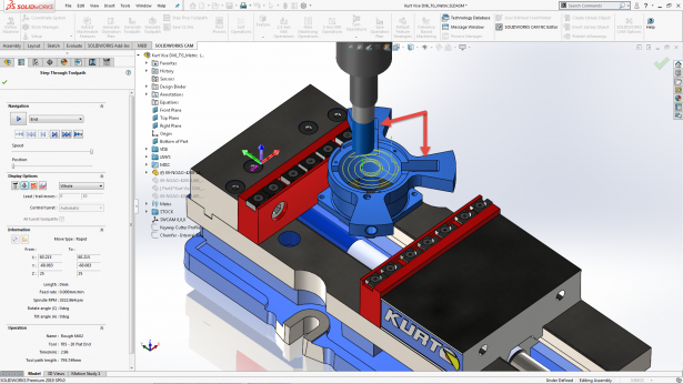 SOLIDWORKS CAM Professional 2019 Adds Rest Machining to VoluMill