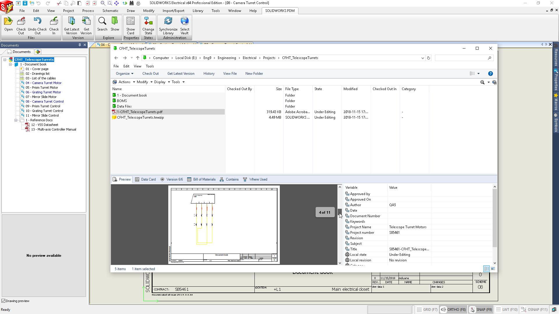 Electrical designers can take advantage of SOLIDWORKS PDM Professional to  meet these needs. The SOLIDWORKS Electrical PDM Connector manages  Electrical ...
