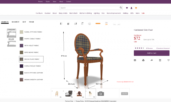 Build Your Own 3D Online Configurator at SOLIDWORKS World 2019