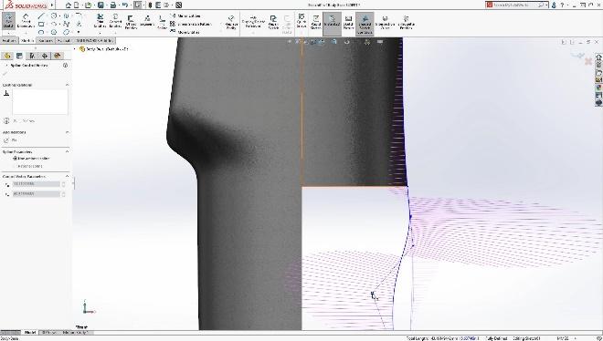 solidworks 2020, sketch, spline