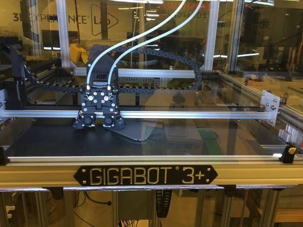 The Gigabot printing away