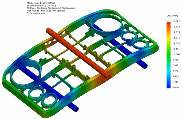Solving Beamy – Three-Point Bending Test with SOLIDWORKS Simulation