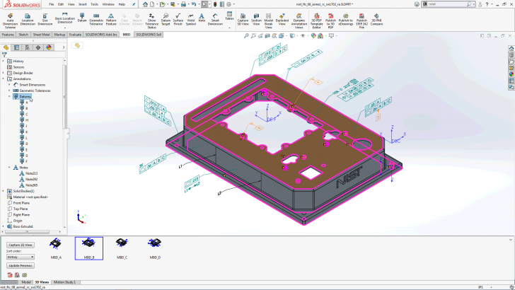 Sort it out! Organize 3D Annotations More Easily in SOLIDWORKS 2020