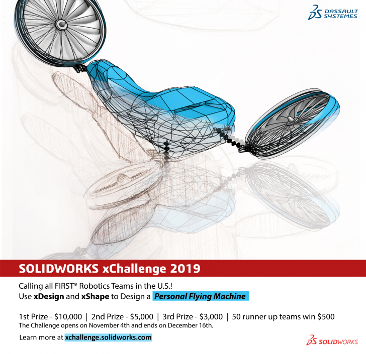 FIRST Robotics Teams Take Flight with the SOLIDWORKS xChallenge