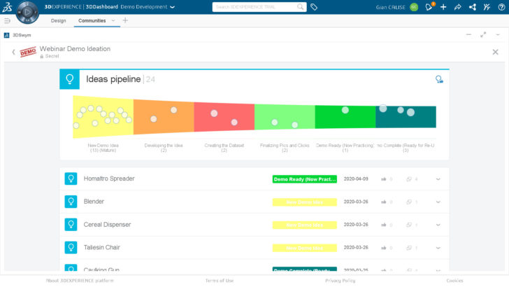 Building an Ideas Pipeline on the 3DEXPERIENCE Platform
