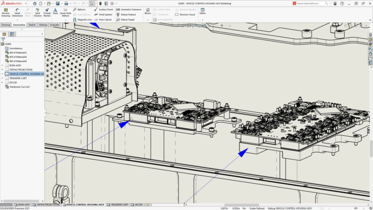 What's New in SOLIDWORKS 2021 – Detailing Mode and Drawing Performance