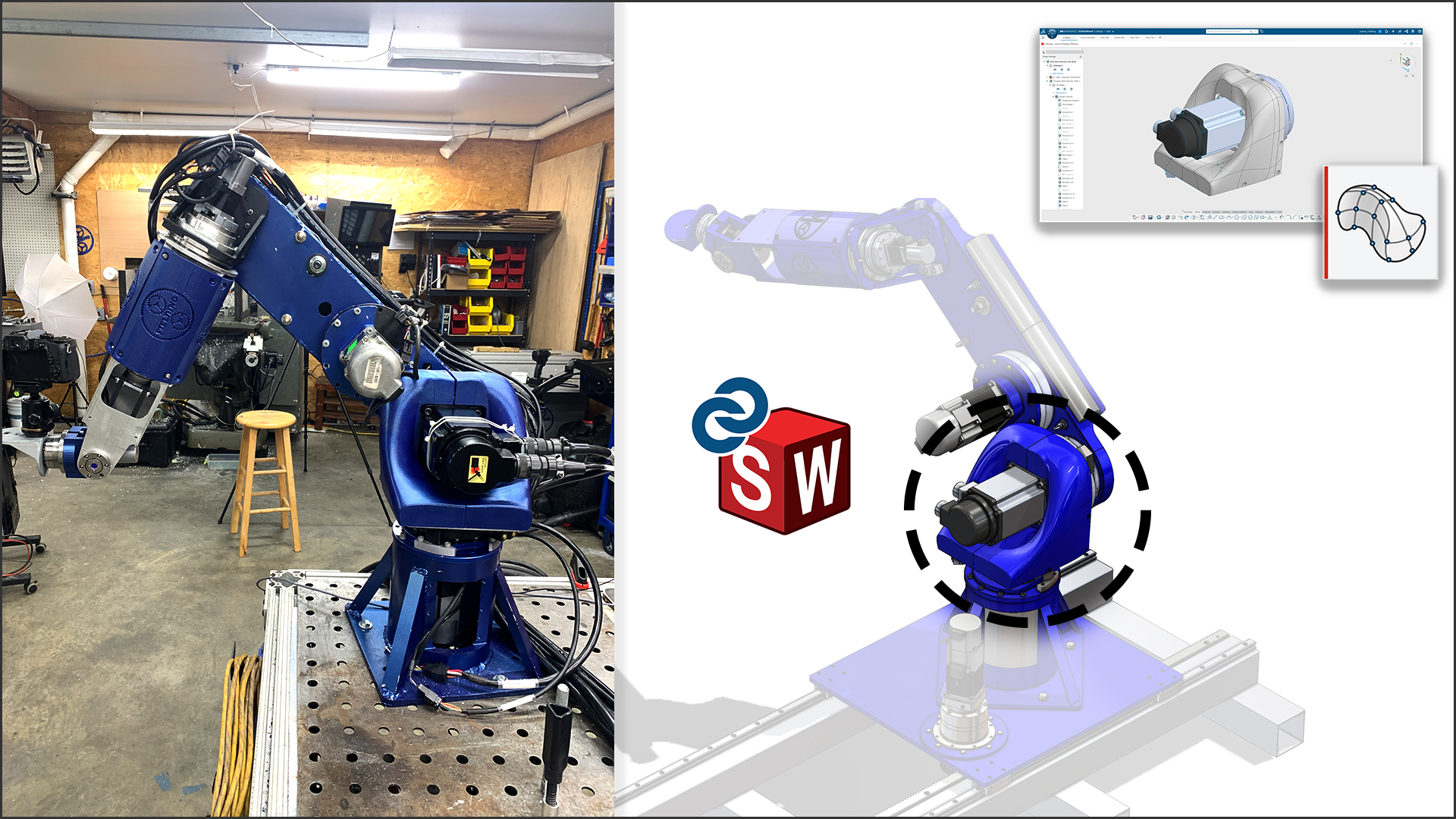 How I Designed My Own 7-Axis Industrial Robot Using SOLIDWORKS and 3D Sculptor