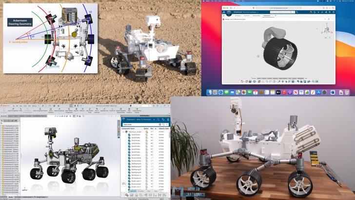 3D Printing + Arduino + 3DEXPERIENCE SOLIDWORKS = Mars Rover Replica