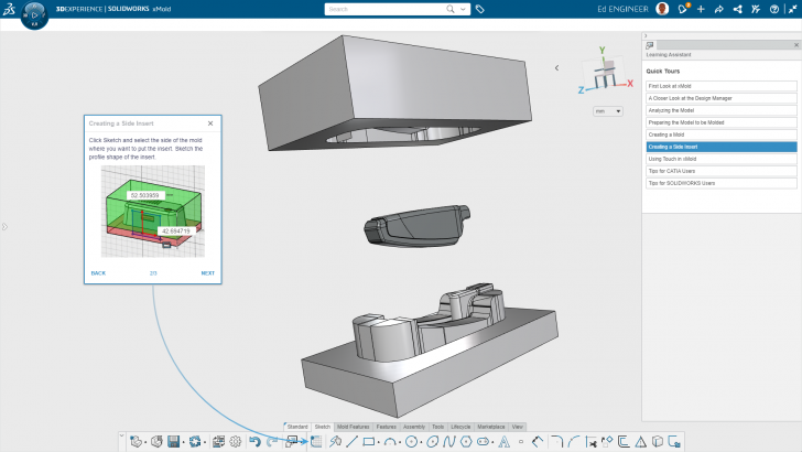Robust 3D Mold Design on the Cloud