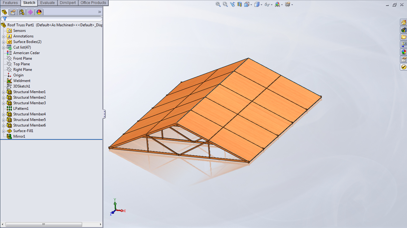 SolidWorks Simulation reporting to the roof for snow duty