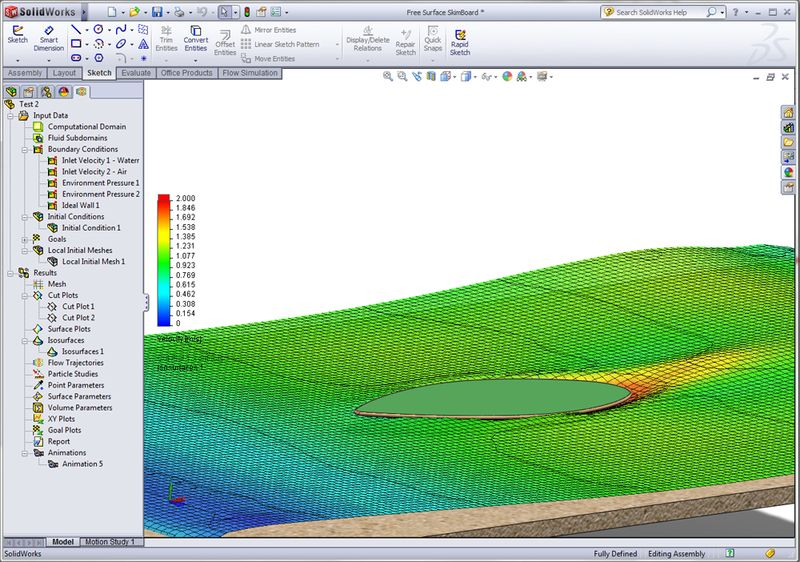SolidWorks Simulation Pesudo Surface & Wake