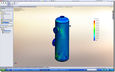 how to run a pressure vessel study in solidworks