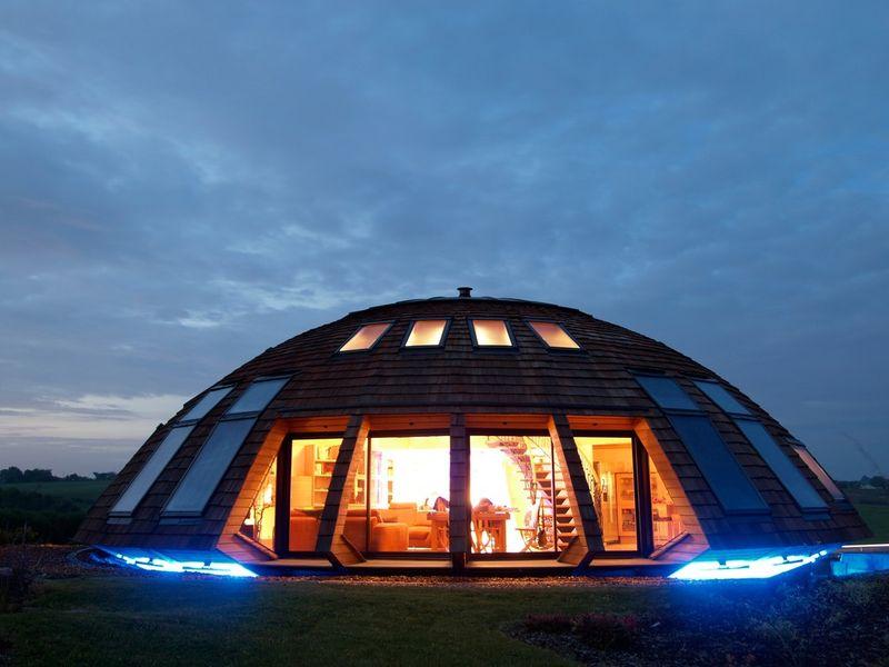 Domespace Home Exterior - Night