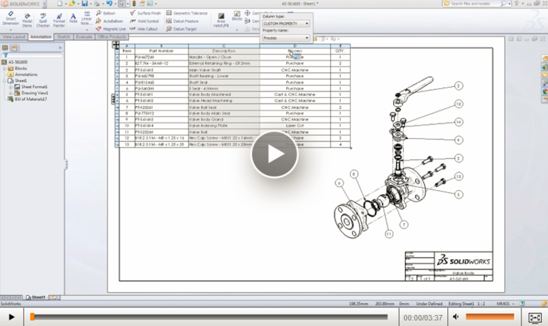 Learn about bills of materials and tables in the for Design table not working solidworks