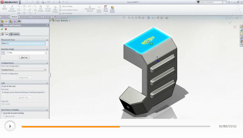 Video double feature: SolidWorks makes designing & documenting sheet metal parts simple