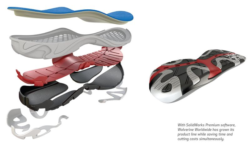 Wolverine Worldwide Footwear designed in SolidWorks