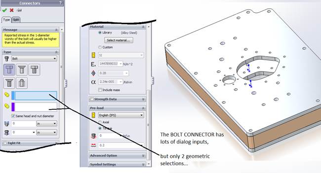 How to Use the Bolt Connector in SolidWorks